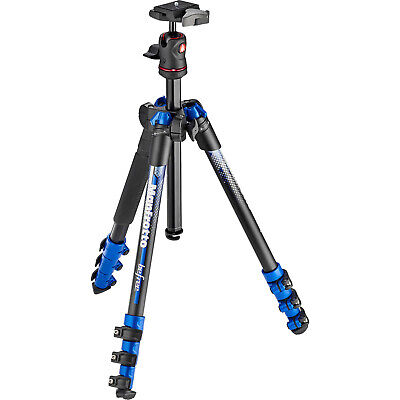 """Manfrotto BeFree 56.7"""" 56.7 InchColor Compact Tripod with Ball Head & Case Blue"""
