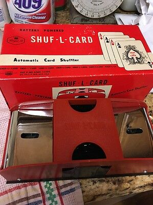 Royal  SHUF-L-CARD Battery Powered Automatic Card Shuffler w/BOX