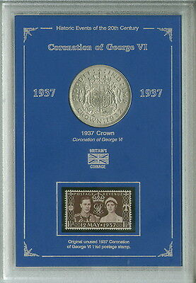 King George VI Coronation 1937 Crown Coin & Stamp Collector Collecting Gift Set