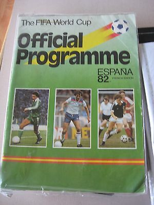 1982 FIFA World Cup Espana 82 Spain Official programme french edition