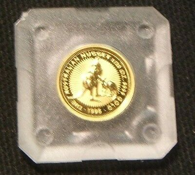 1996~~AUSTRALIA 1/20th OUNCE .9999 GOLD~~PROOF BEAUTY IN CASE
