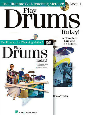 Play Drums Today! Beginner Lessons Learn How to Play Music Book CD DVD Pack NEW