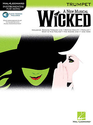Wicked Musical Trumpet Solo Sheet Music Songs Play-Along Book & Online Audio NEW