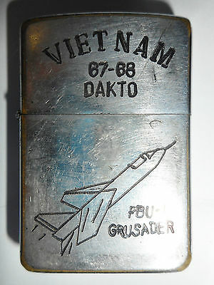 1967 - ORIGINAL ZIPPO LIGHTER - US AIR FORCE - DAK TO BATTLE - Vietnam War, 8636