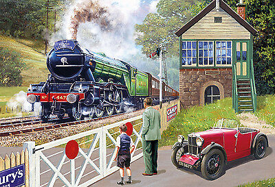 Gibsons - 500 PIECE JIGSAW PUZZLE - Back On Track Steam Railway