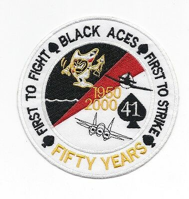 """VF-41 """"Black Aces"""" 50th Anniversary patch"""