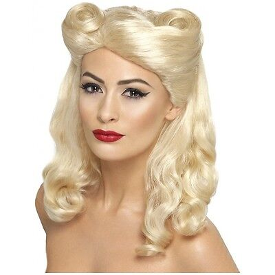 40's Pin Up Wig Costume Accessory Adult Halloween