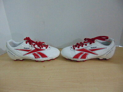 Soccer Shoes Cleats Child Size 13.5 USA Reebok Sprint Fit Lite White Red New