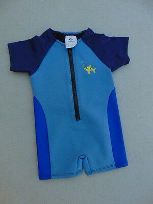 Wetsuit Child Size 2 With UV Ray Arms 1 mm Bare Blue Navy