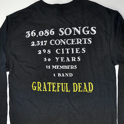 Grateful Dead 30th Anniversary 2317 Concerts Vtg Long Sleeve T-shirt Small S GDP