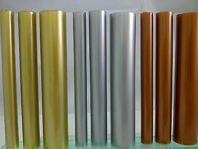 Metallic Acrylic Round Rod Silver Gold & Copper Extruded Perspex Bar