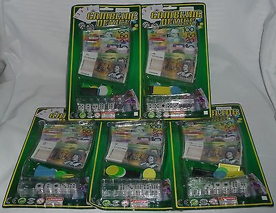 Lot of 5 x packs of PLAY MONEY + toy gambling dice ~ New VERY CHEAP!