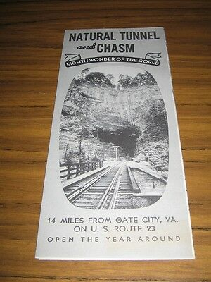 Natural Tunnel & Chasm near Gate City,VA Travel Brochure 1950's?