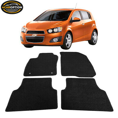 Fits 12-14 Chevrolet Sonic 4Dr Floor Mats Carpet Front & Rear Nylon Black 4PC