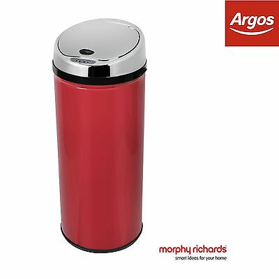 Morphy Richards 42 Litre Round Sensor Bin - Red -From the Argos Shop on ebay