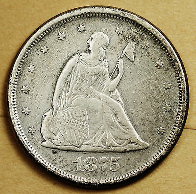 1875-s Twenty Cent Piece.  About X.F.  93569
