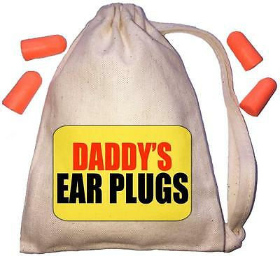 Daddy's Yellow Design TINY Ear Plugs Storage Bag & 4 Ear Plugs DIY / Snoring