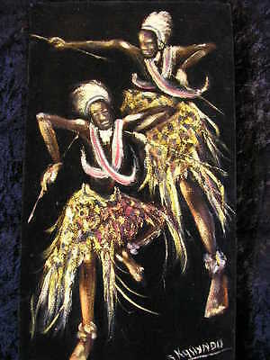 AFRIKA*AFRICAN WARRIORS*AFRICA ART*1950/60s*S KOHYANO*RARE ORIGINAL OIL PAINTING