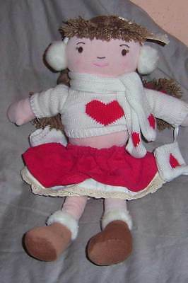 "Cloth Dol,""holly The Winter Doll"" By  Laura Ashley With Tag  (#b52-38)"