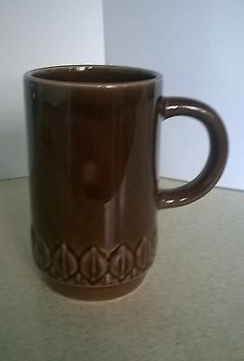 Brown pottery mug by Holkham Pottery in England