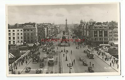 Ireland Dublin O'Connell Street Real Photo Vintage Postcard 29.3
