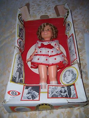 Vintage Ideal 1972 Shirley Temple Doll Original Box Outfit Velvet Ribbon Hairnet