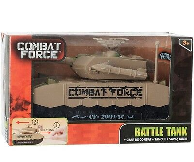 Combat Force Toy Battle Tank Pull String to Move Boxed New