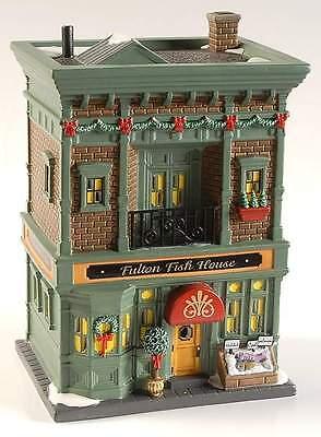 Department 56 CHRISTMAS IN THE CITY Fulton Fish House 9985697