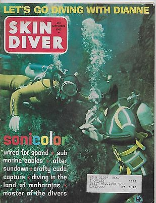 SKIN DIVER MAGAZINE September 1965 Submarine Cables Land of Maharajas