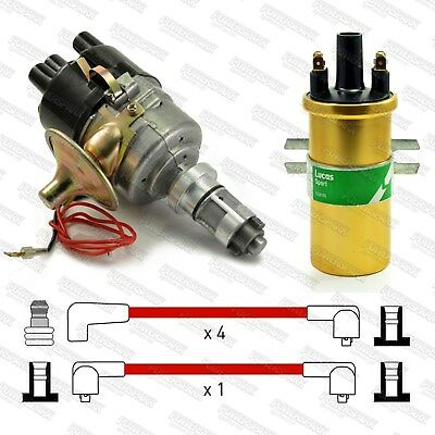 Metro & Mini A+ 59D Electronic Distributor, Sports Coil & Red 8mm HT Leads