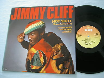 "JIMMY CLIFF Hot Shot 1985 UK 12"" vinyl single"