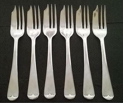 6 x Vintage PASTRY CAKE FORKS Silver Plated Old English Pattern EPNS