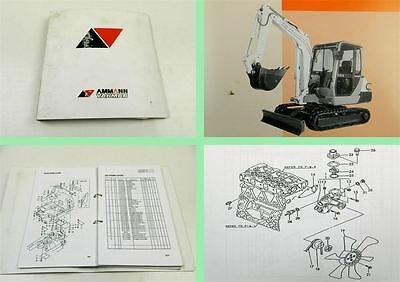 Ammann Yanmar B25V Crawler Backhoe Ersatzteilliste Parts Catalog List 1998