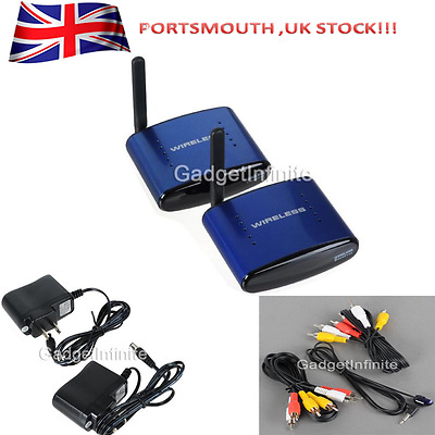 PAT-530 5.8G AV Sender Transmitter + Receiver Wireless IR Remote Extender UK