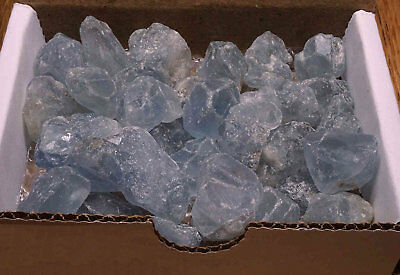 Celestite Collection 1/2 Lb Natural Sky Blue Crystal Gemstones