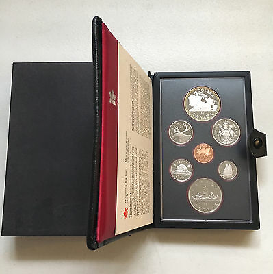 "1981 Royal Canadian Mint Proof Set ""w/ Silver-Dollar"" 7 Coins (28426)"