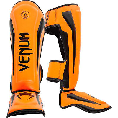 Venum Elite Standup MMA Shin Guards - Neo Orange