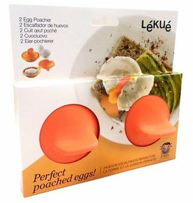 Lékué EGG POACHER Set of 2 Pods POACHED EGG MAKER