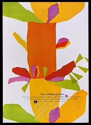 1969 Wolfgang Bauer print design Knoll Textiles vintage print ad