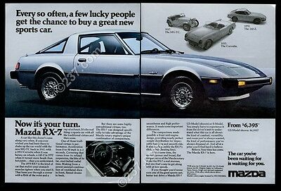 1979 Mazda RX-7 GS car photo introductory vintage print ad