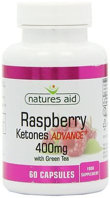 Natures Aid 400mg Raspberry Ketones Advance Plus Capsules - Pack of 60 Capsules