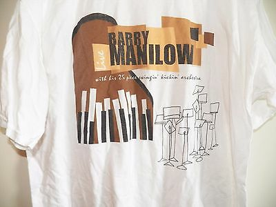 VINTAGE 1999 BARRY MANILOW LIVE IN CONCERT with an Orchestra Tour T-SHIRT-XL