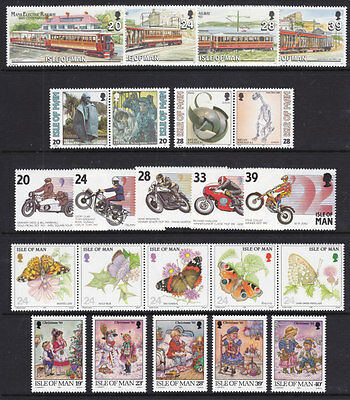 Isle Of Man 1993 Complete Commem Year Set ( 5 Sets ) U/mint
