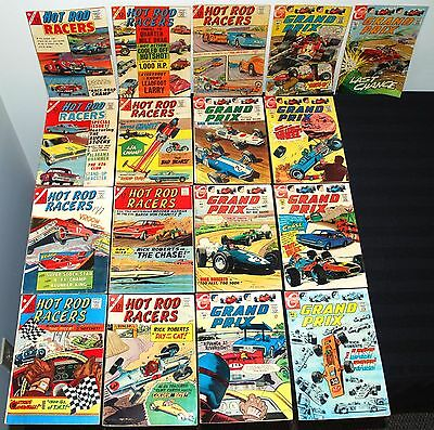 Charlton Hot Rod Racers Grand Prix Partial Set Run #1-31 Mid Grade  L47