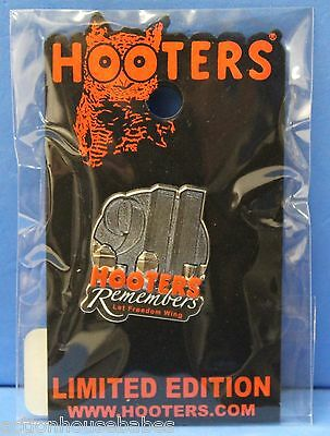 Hooters Collectible 911 Remembers Let Freedom Win 2001 Lapel Pin