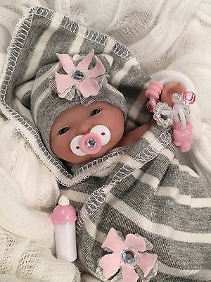 """CUTE 5-6"""" Baby GiRL DOLL CLOTHES SET~PaCifieR~ToY~FOR Mini Reborns~Berenguer"""
