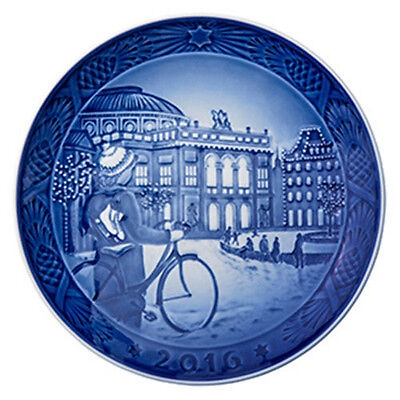 NEW IN BOX! 2016 Royal Copenhagen Christmas Plate Factory First Quality DENMARK