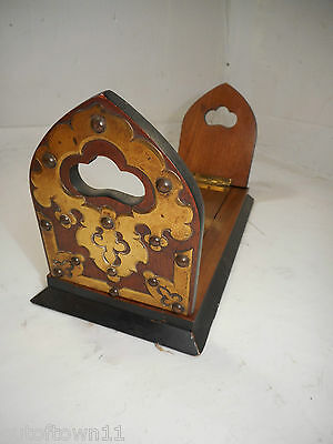 Antique Walnut Extending Book Slide , Book Ends     ,  ref 1368