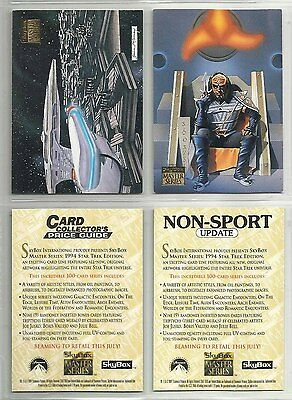 "1994 Lot of 2 Star Trek: Master Series 2 ""Promo Cards"" CARD COLLECTOR'S & NSU"