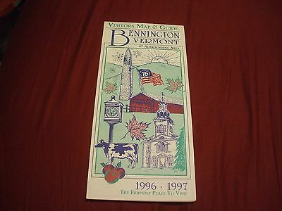 1996-1997 BENNINGTON VERMONT Visitors Map & Guide